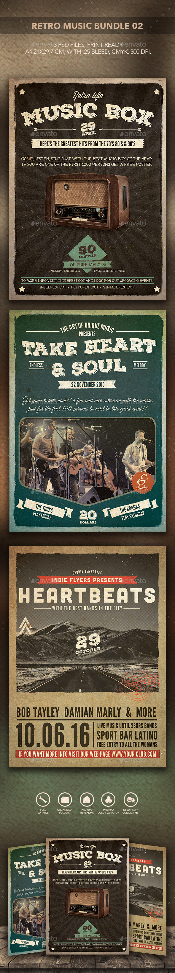 GraphicRiver Retro Music Bundle 02 10460631