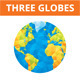 3 Abstract Vector Globes Illustrations - GraphicRiver Item for Sale