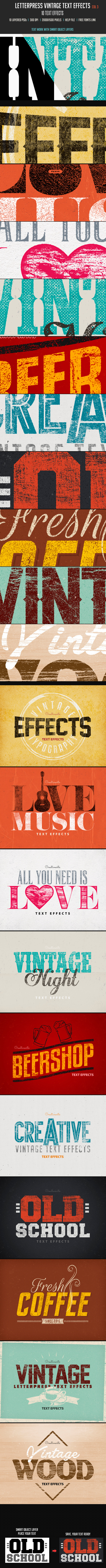 GraphicRiver Letterpress Vintage Text Effects 3 10461365