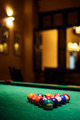 pool balls on billiards table in cozy bar - PhotoDune Item for Sale