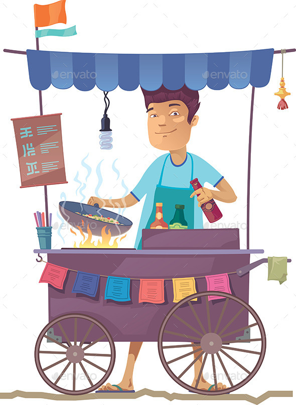 GraphicRiver Asian Street Kitchen 10461433