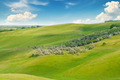 green field and blue sky with light clouds - PhotoDune Item for Sale