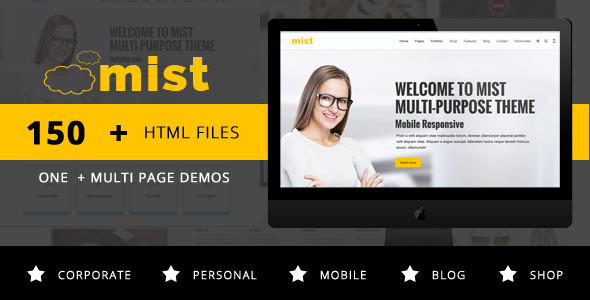 ThemeForest Mist Multi-Purpose HTML5 Responsive Template 9997523
