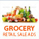 Grocery Retail Sale Web Banner Ads - GraphicRiver Item for Sale