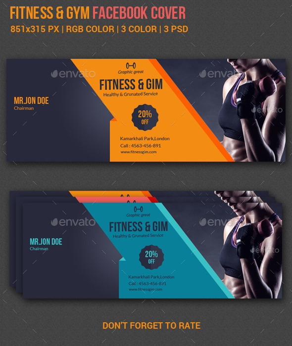 GraphicRiver Fitness Facebook Cover 10462227