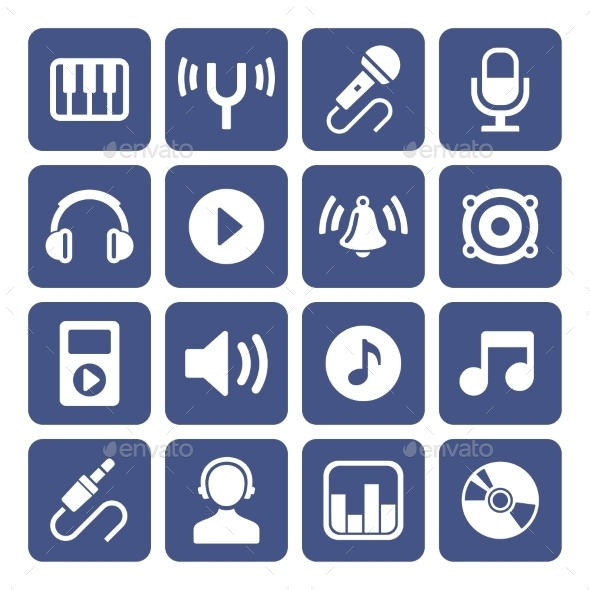 GraphicRiver Music Icons Set 10462296