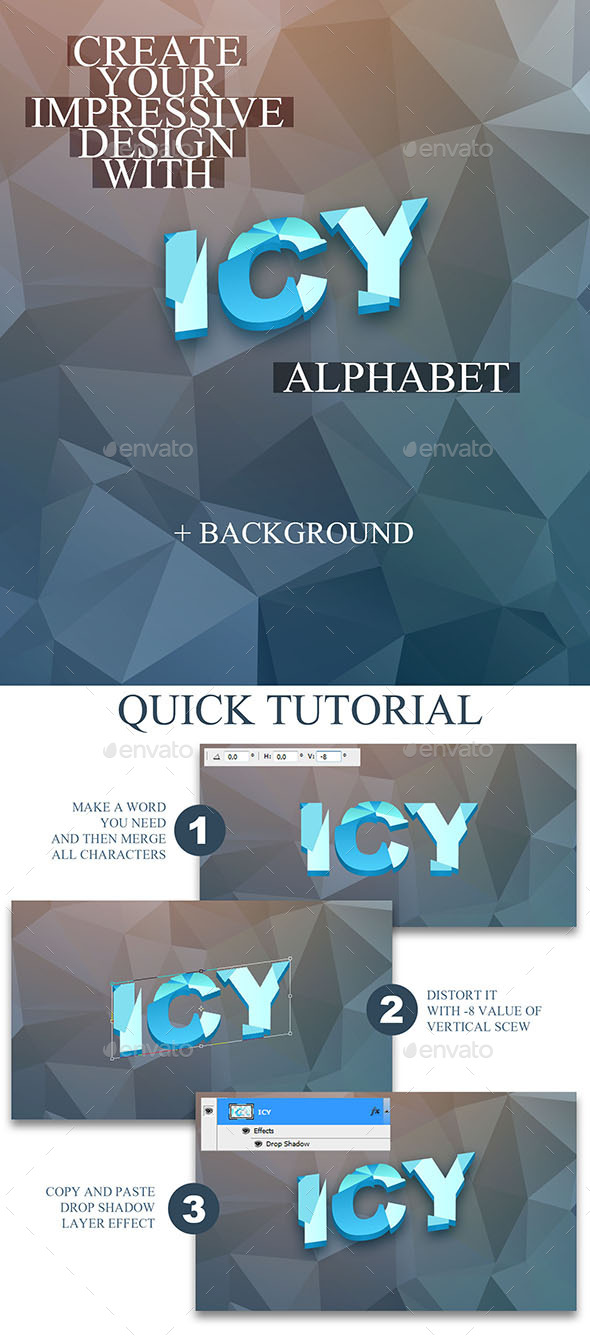 GraphicRiver Ice Aphabet 10462332