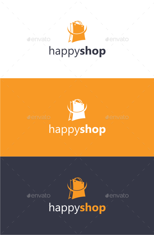 GraphicRiver Happy Shop Logo Template 10462758