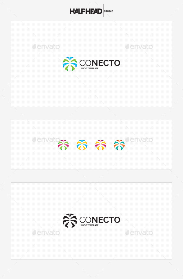 GraphicRiver Conecto Logo Template 10462865