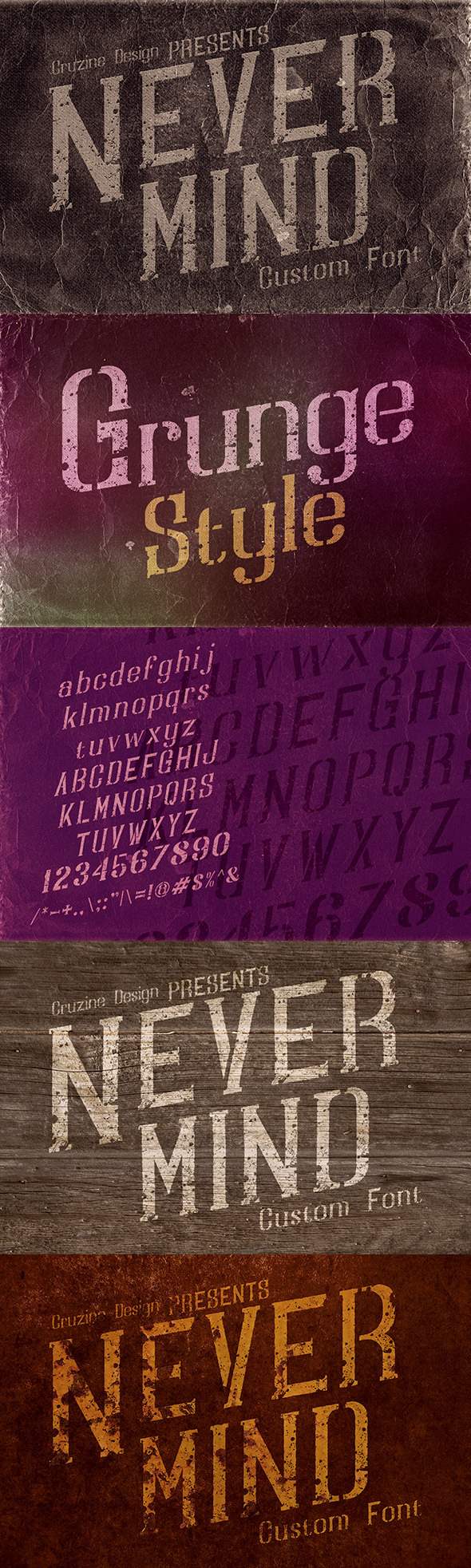 GraphicRiver Nevermind Custom Font 10462894