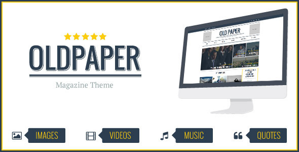 OldPaper - Ultimate Magazine & Blog Theme - News / Editorial Blog / Magazine