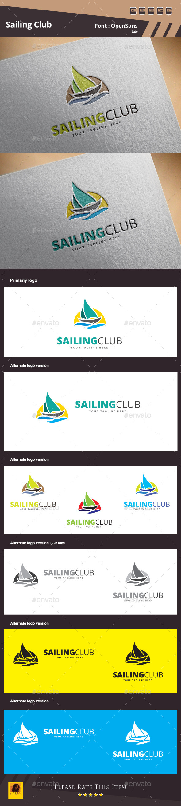 GraphicRiver Sailing Club Logo Template 10462980