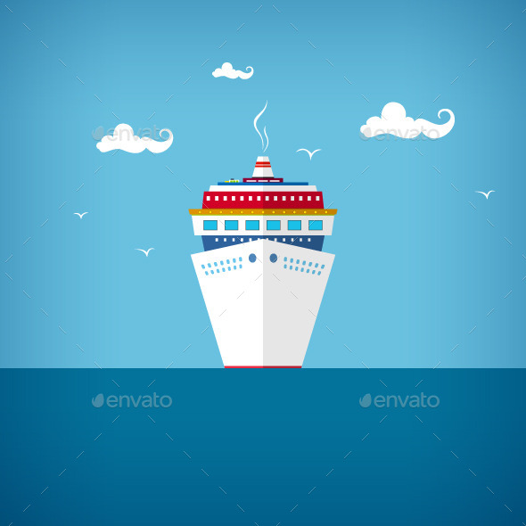 GraphicRiver Cruise Ship at Sea 10463067