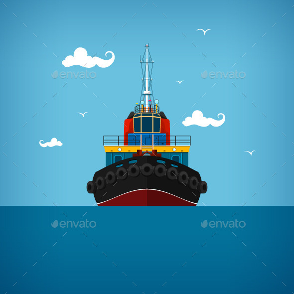 GraphicRiver Tugboat 10463076
