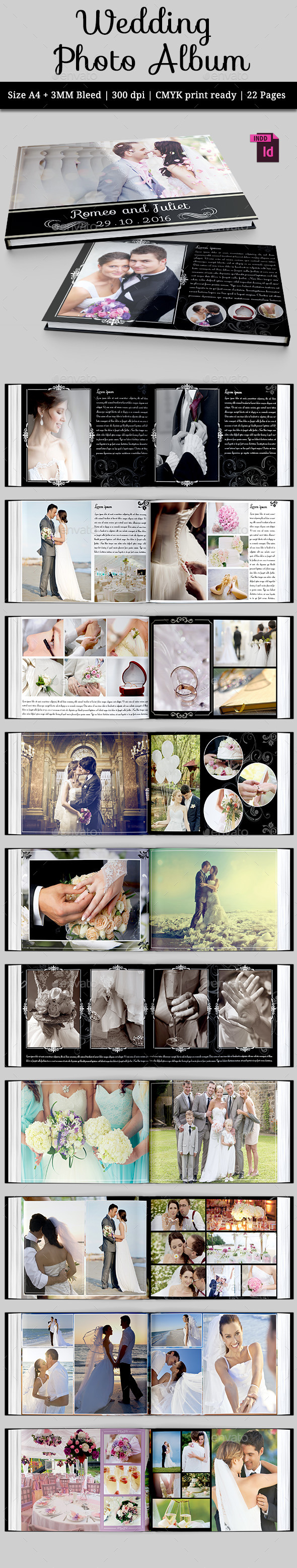 GraphicRiver Wedding Photo Album 10463108