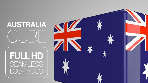 Australia Flag Cube