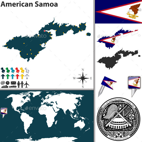 GraphicRiver Map of American Samoa 10463327
