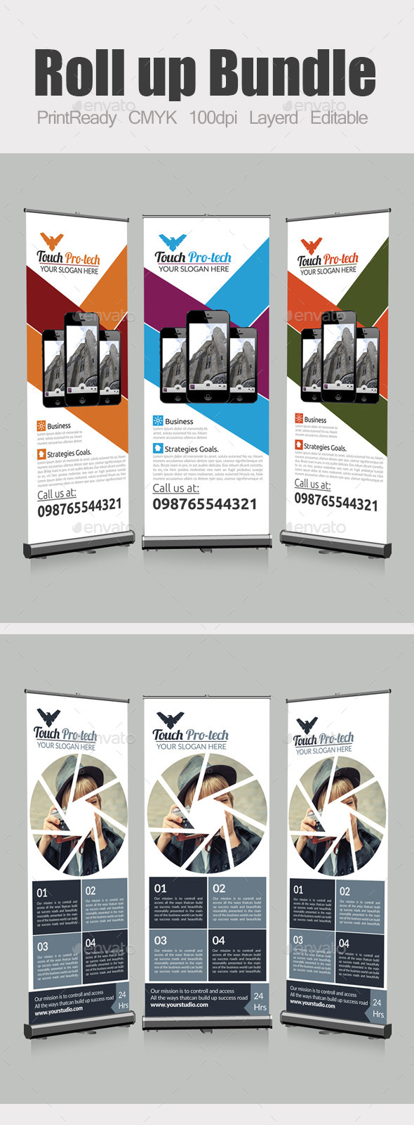 GraphicRiver Roll Up Business Banners Bundle 10463331