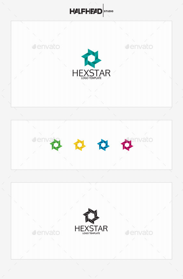 GraphicRiver Hexstar Logo Template 10463365