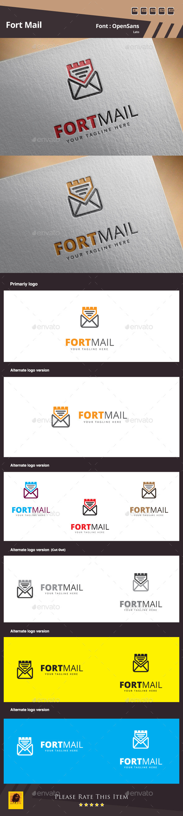 GraphicRiver Fort Mail Logo Template 10463485
