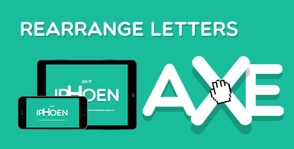 CodeCanyon Rearrange Letters HTML5 Game 10411859