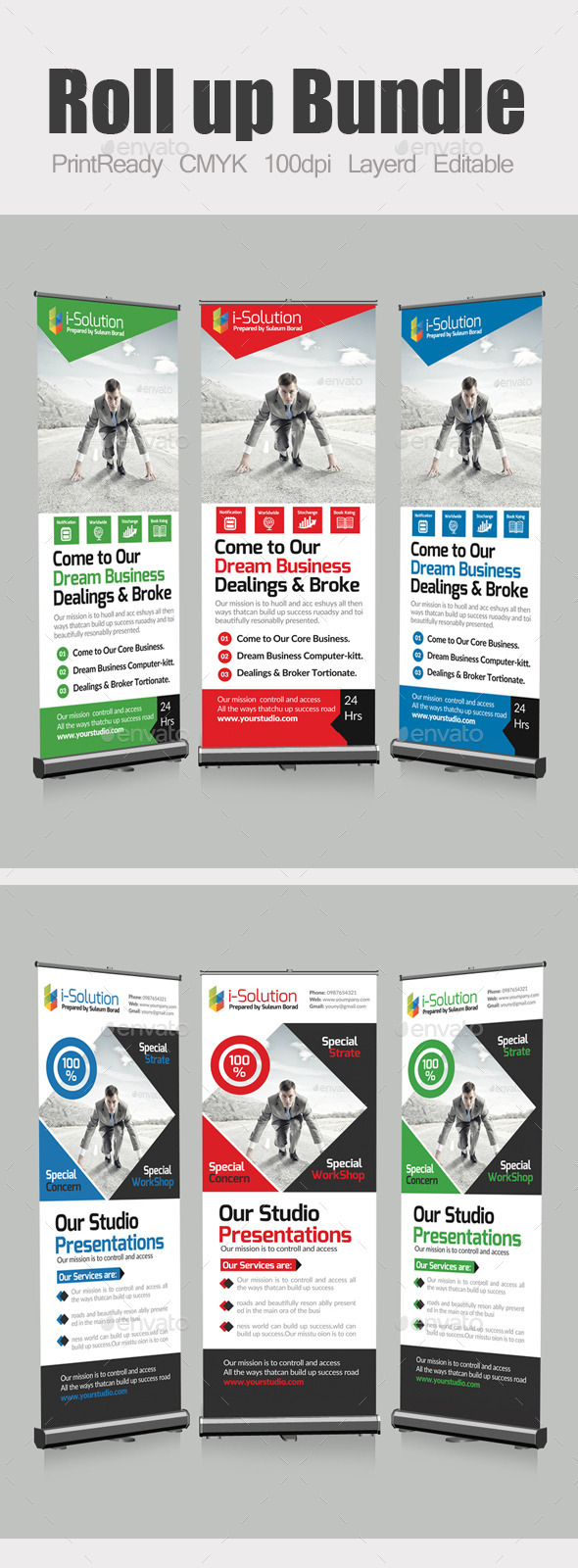 GraphicRiver Roll Up Business Banners Bundle 10463769