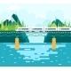 Bridge over River Tourism - GraphicRiver Item for Sale