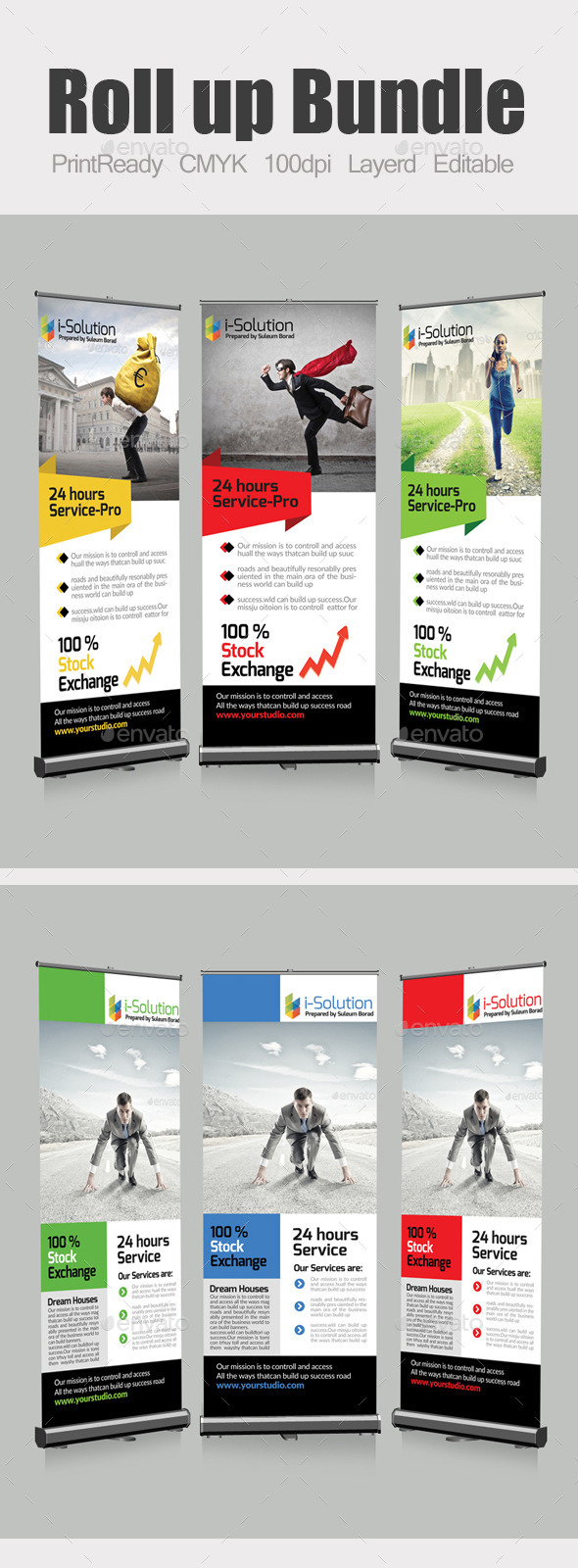 GraphicRiver Roll Up Business Banners Bundle 10463989