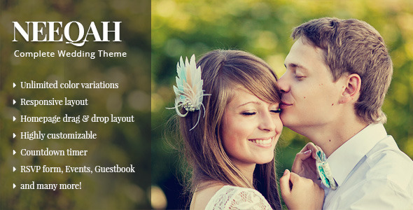 Qaween - Wedding WordPress Theme - 1