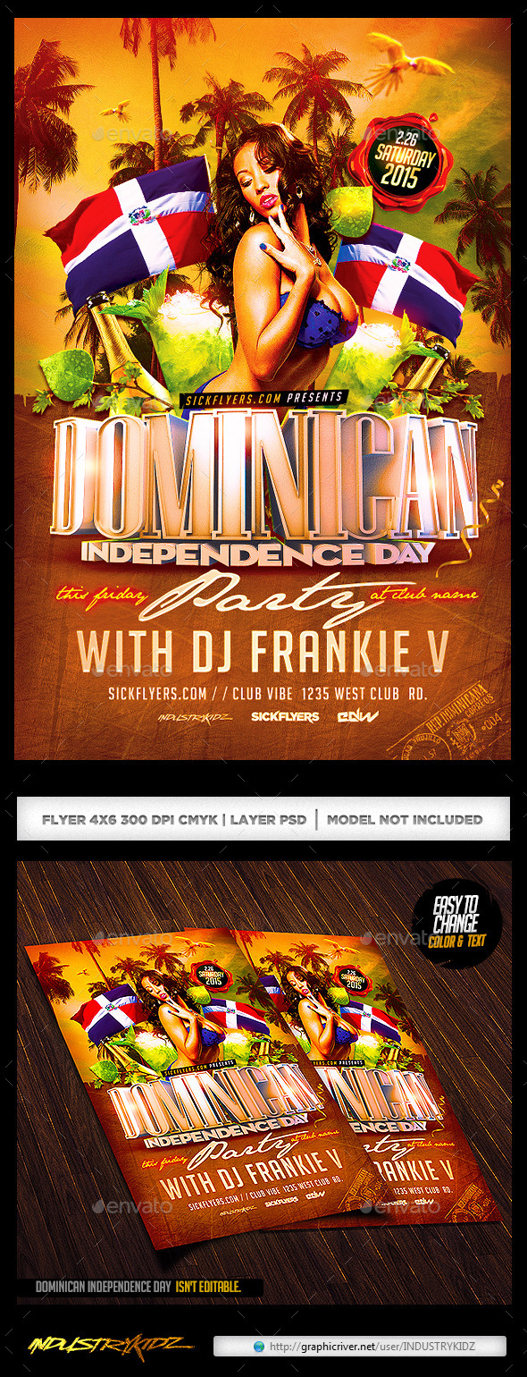 GraphicRiver Dominican Independence Day Flyer 10464174