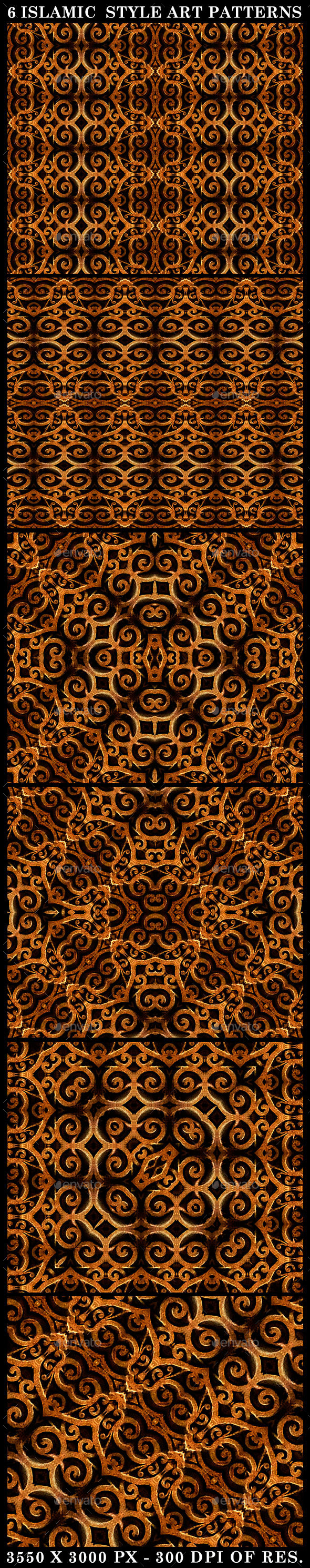 GraphicRiver 6 Islamic Style Art Patterns 10464896