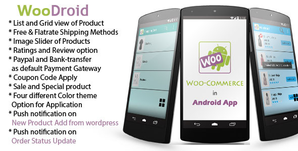 CodeCanyon WooDroid An Android app with Woocommerce Store 10465120