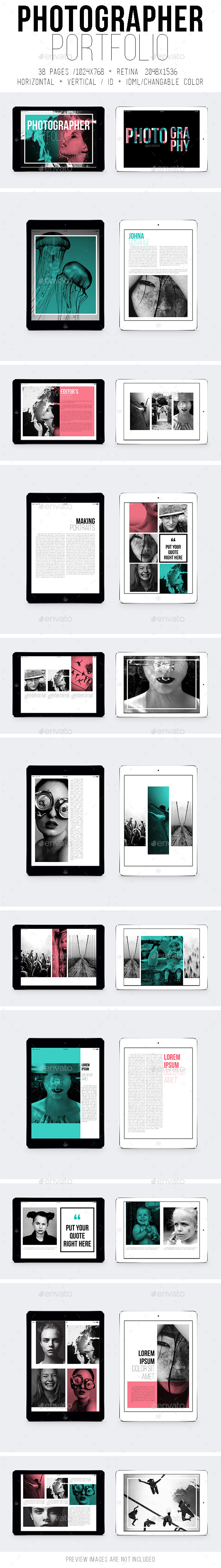 GraphicRiver Ipad & Tablet Photographer Portfolio 10465263