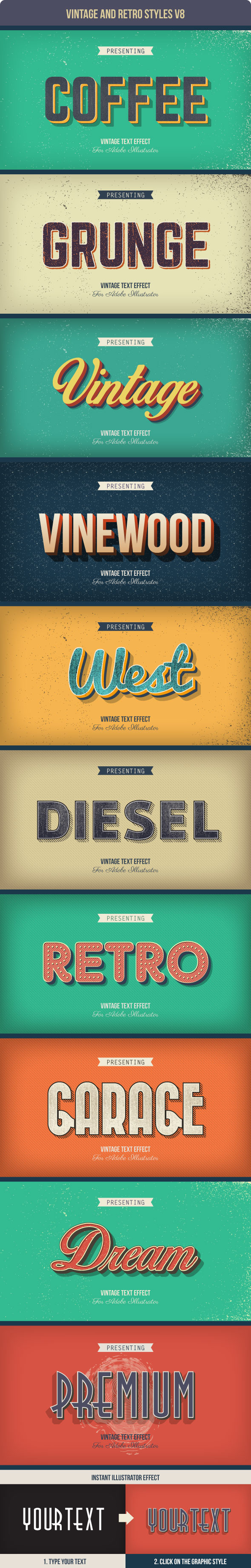 GraphicRiver Vintage and Retro Styles V8 10418986