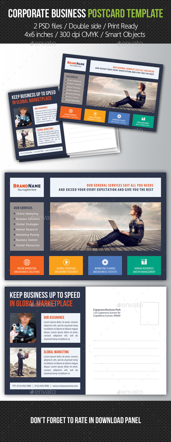 GraphicRiver Corporate Business Postcard Template V06 10465334