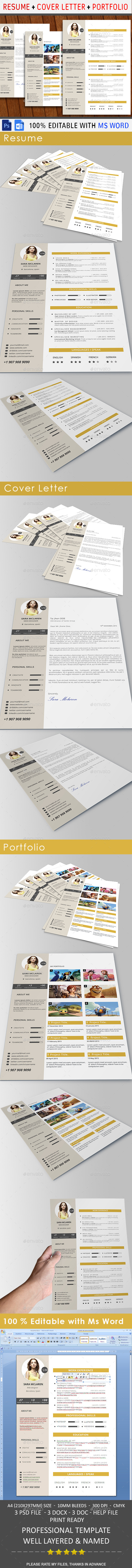 GraphicRiver Resume 10465337