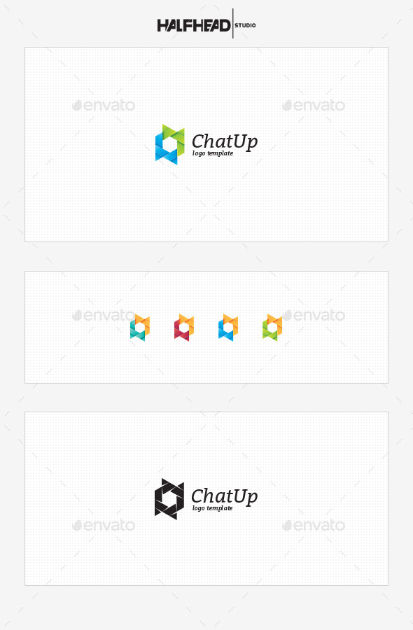GraphicRiver ChatUp Logo Template 10465839