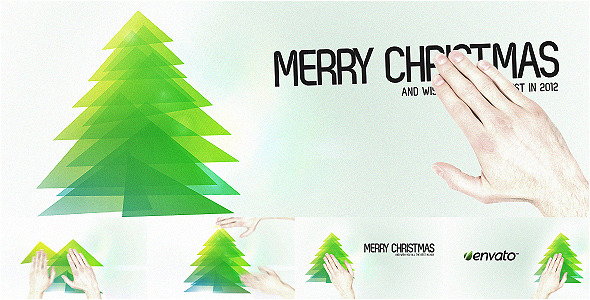 After Effects Project - VideoHive Touch Christmas Video Greeting Card 1054084