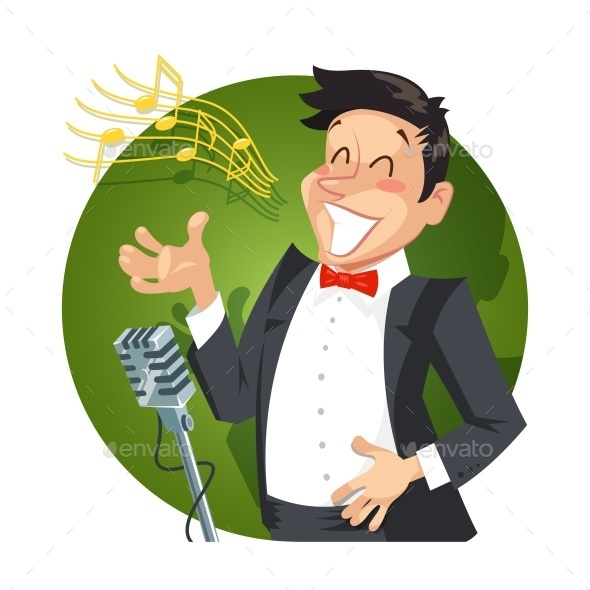 GraphicRiver Singer Sing with Microphone 10466105