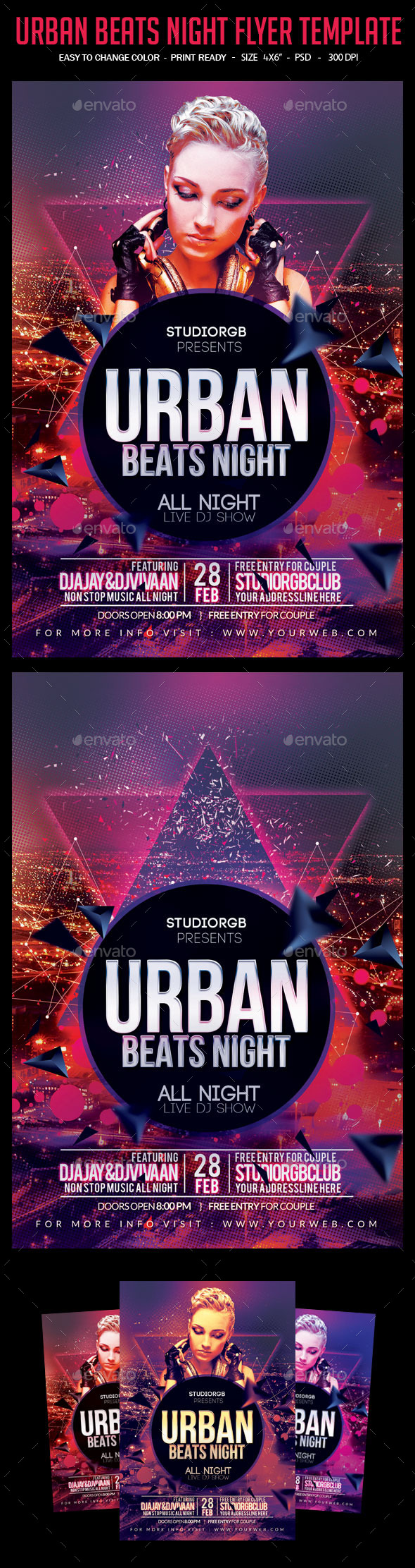 Urban Beats Night Flyer Template