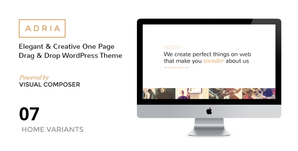 ThemeForest ADRIA Minimal One Page Parallax WordPress Theme 10466140