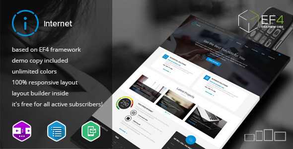 ThemeForest Internet Multipurpose & Internet Service Theme 10466215