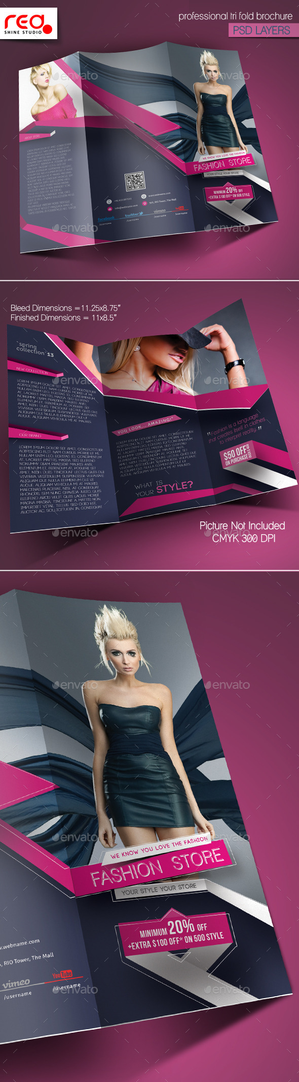 GraphicRiver Fashion Store Trifold Brochure Template 10466865