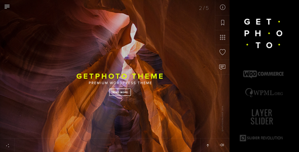 ThemeForest GetPhoto Photography & Portfolio WordPress Theme 10395921