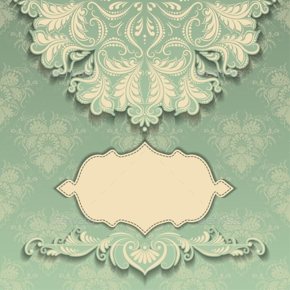 GraphicRiver Vintage Pattern with Frame 10467494