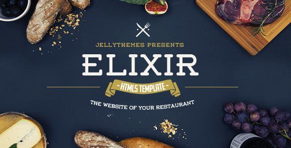 ThemeForest Elixir Restaurant HTML Responsive Template 10467526