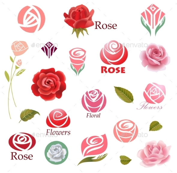 GraphicRiver Roses Design Elements 10467548