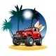 Cartoon 4x4 Car on Beach - GraphicRiver Item for Sale