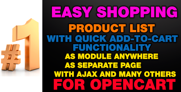 CodeCanyon EasyShopping Product list with quick add-to-cart 10468542