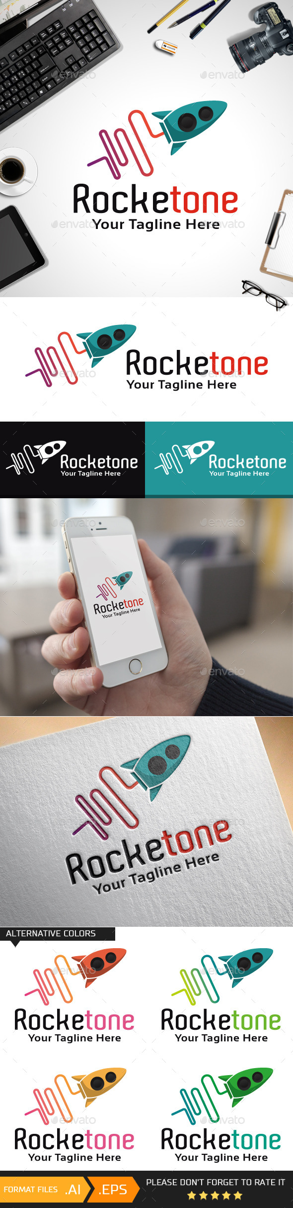 GraphicRiver Rocketone Logo Template 10468559